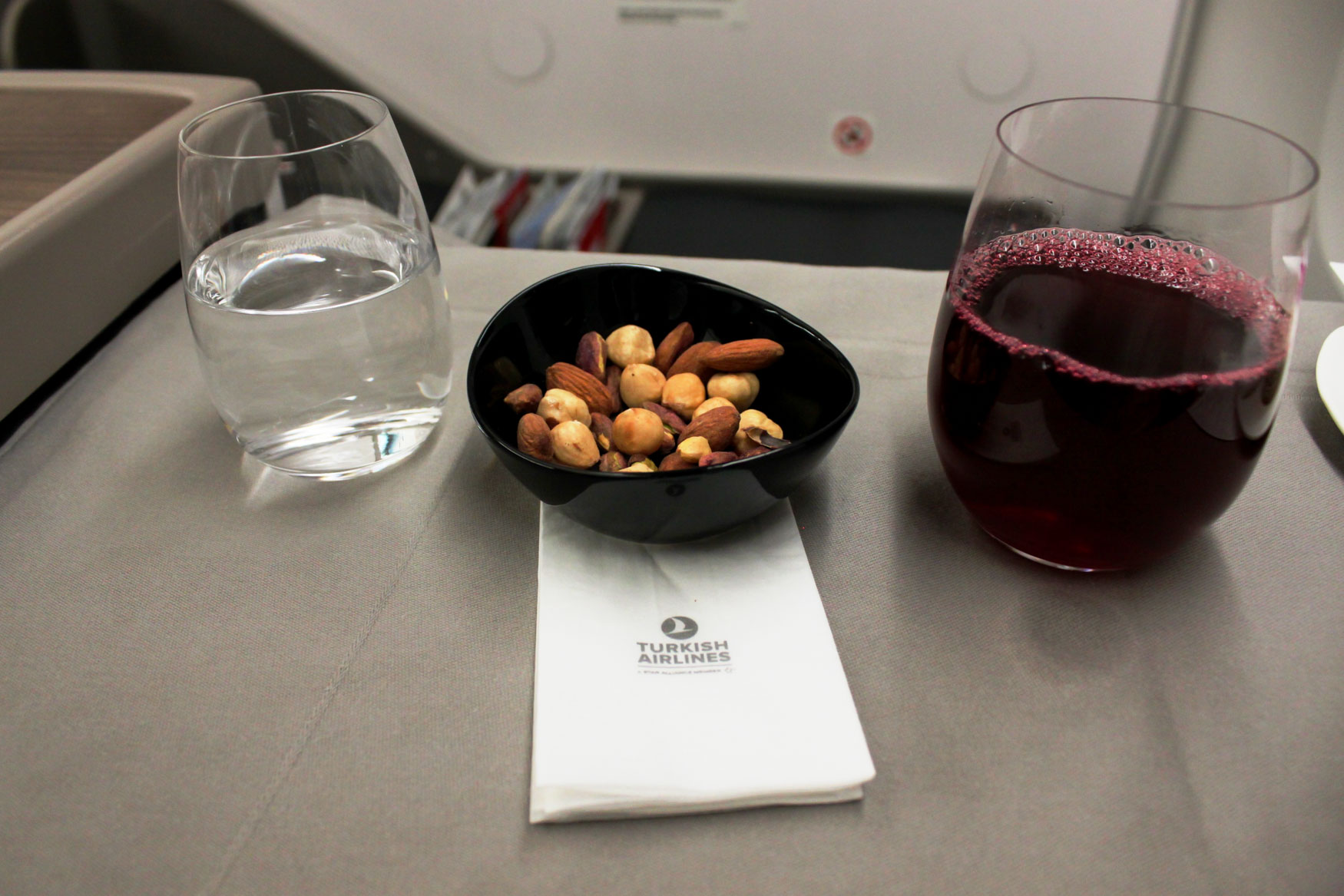 Tea and Nuts Turkish Airlines