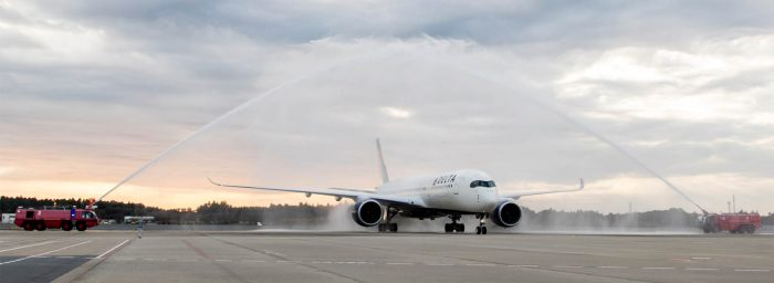 The First Commercial Flight of Delta Air Lines A350 Touches Down at Tokyo Narita