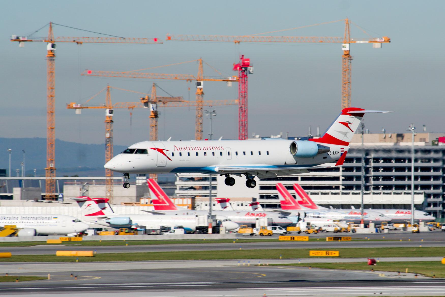 Austrian Arrows CRJ at Vienna Airport