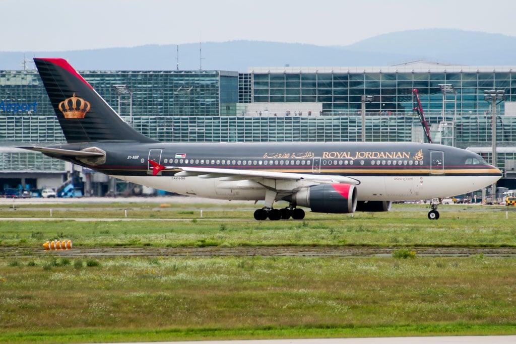 Royal Jordanian A310 at Frankfurt
