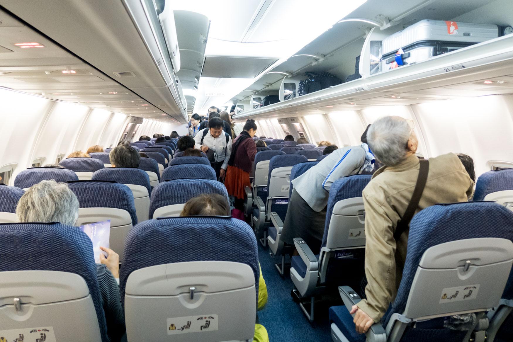 ANA 737-800 Cabin