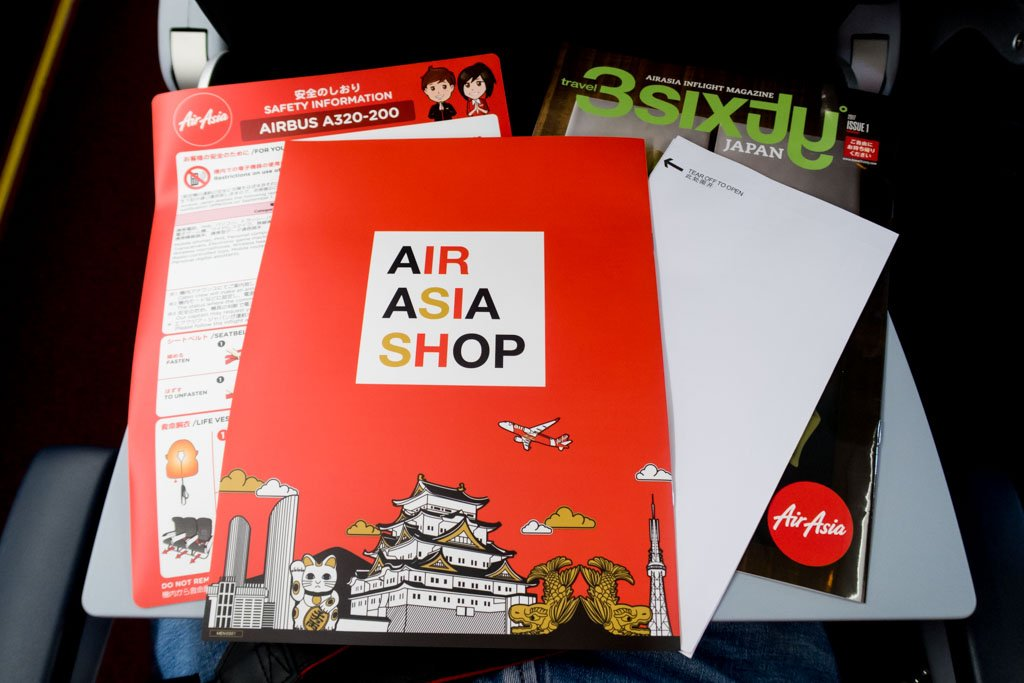 AirAsia Japan Seatpocket Contents
