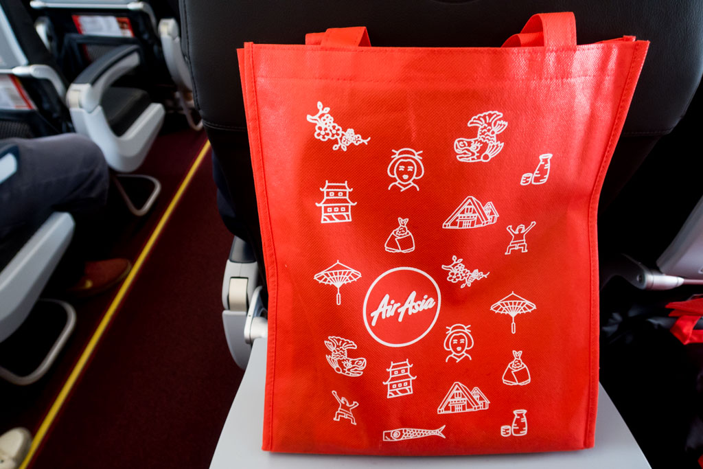 AirAsia Japan Inaugural Flight Gift Bag