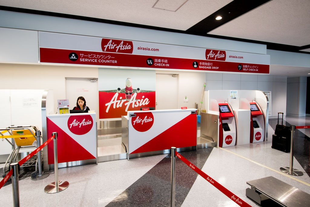AirAsia Japan Check-In Area at New Chitose
