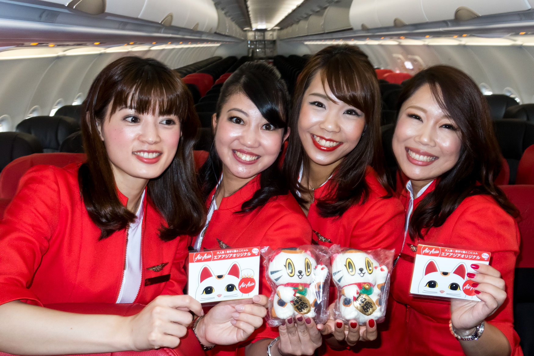 AirAsia Japan Inaugural Flight Cabin Crew
