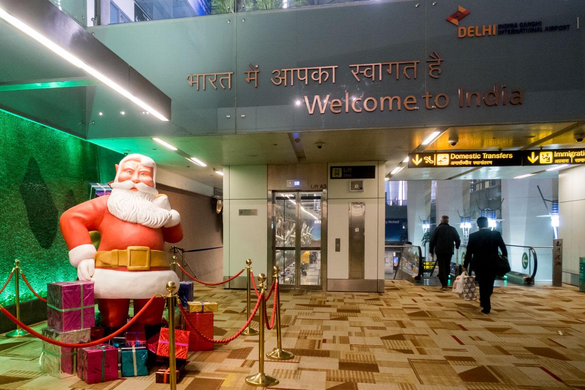 Delhi Indira Gandhi Airport Santa Claus
