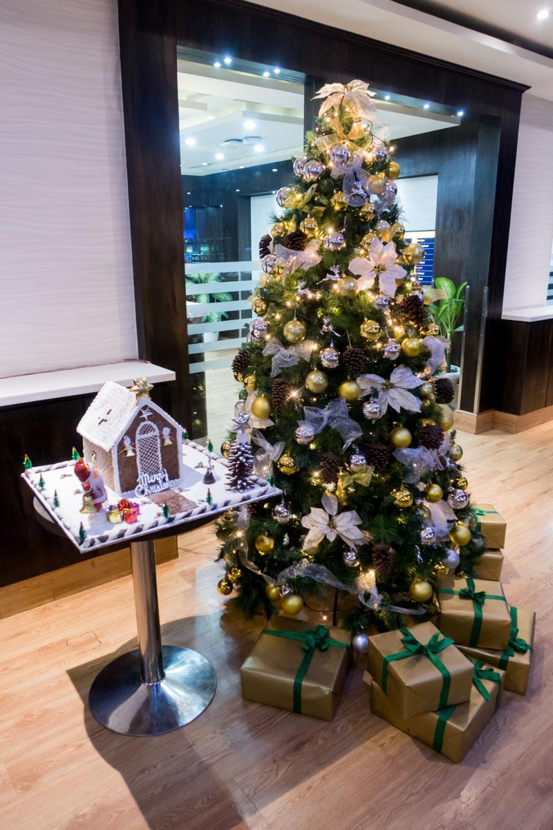 Delhi ALLWAYS VIP Lounge Christmas Tree