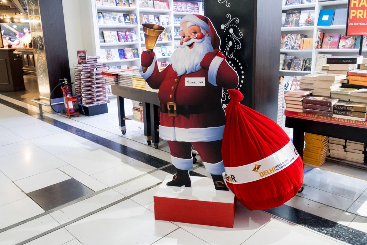 Santa Claus at Delhi International Airport