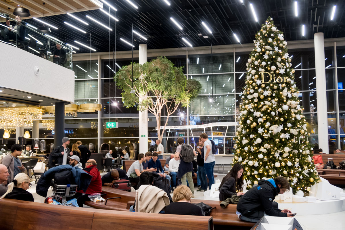 Dior Christmas Tree at Amsterdam Airport