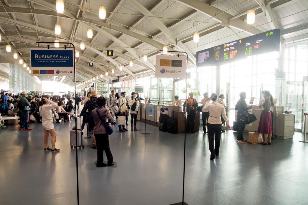 JAL Busan Tokyo Boarding Queue