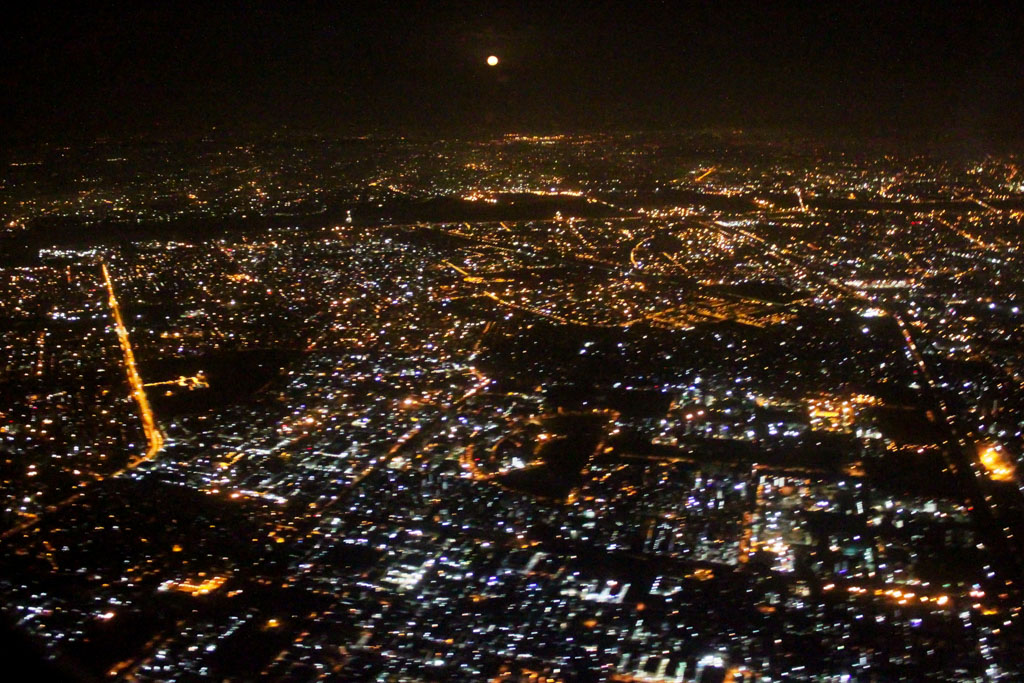 Landing in Delhi