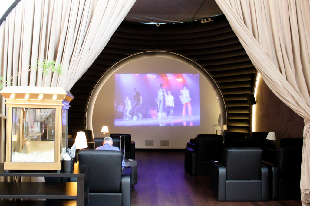 Turkish Airlines Lounge Istanbul Movie Room