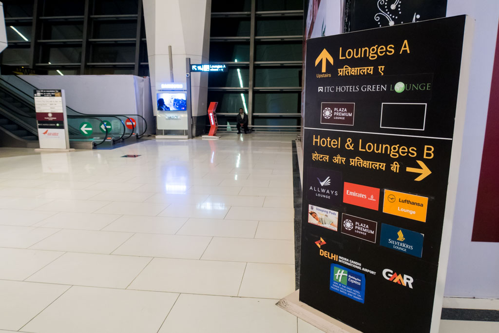 Signs Pointing to Lounges