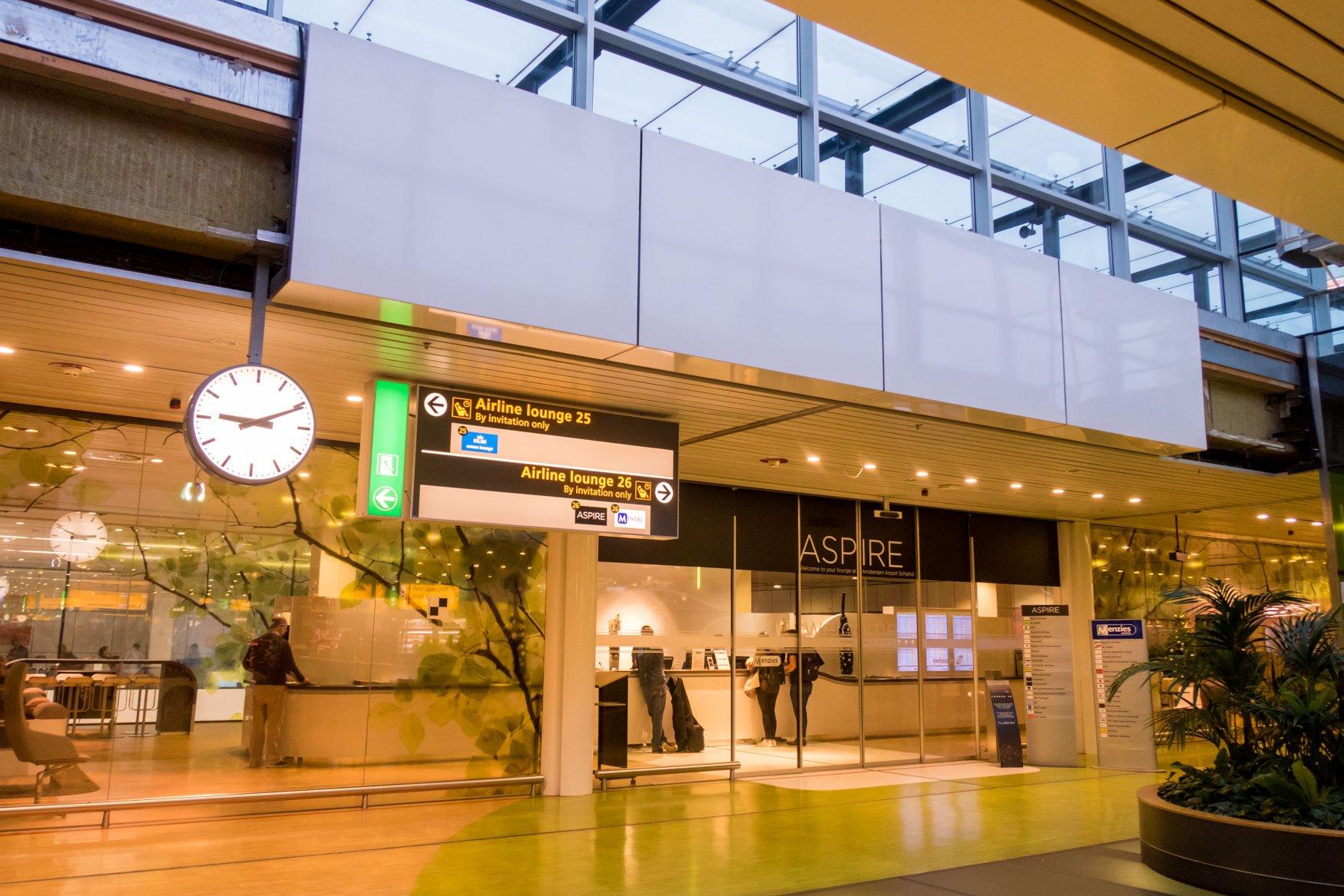 Aspire Lounge Schengen No. 26 Amsterdam Schiphol