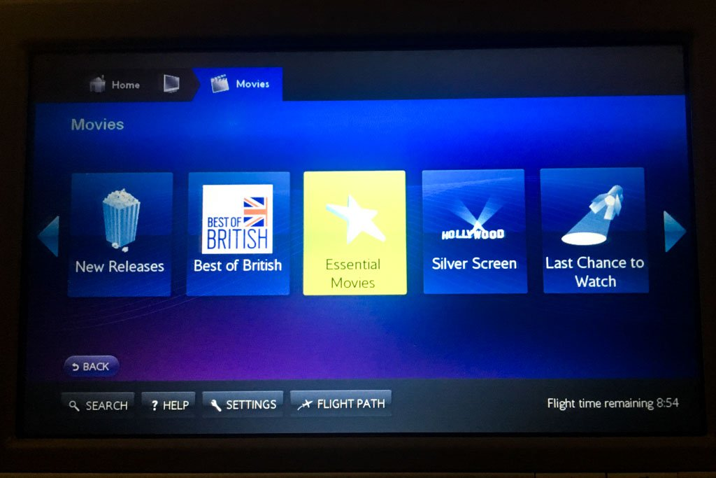 British Airways IFE Movies