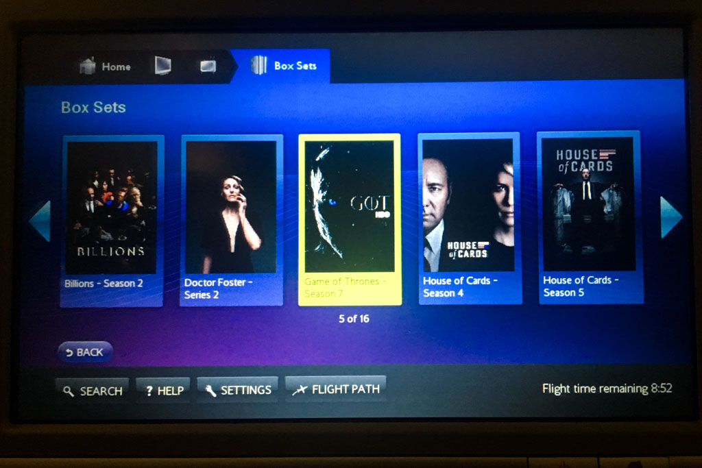 British Airways IFE TV Shows