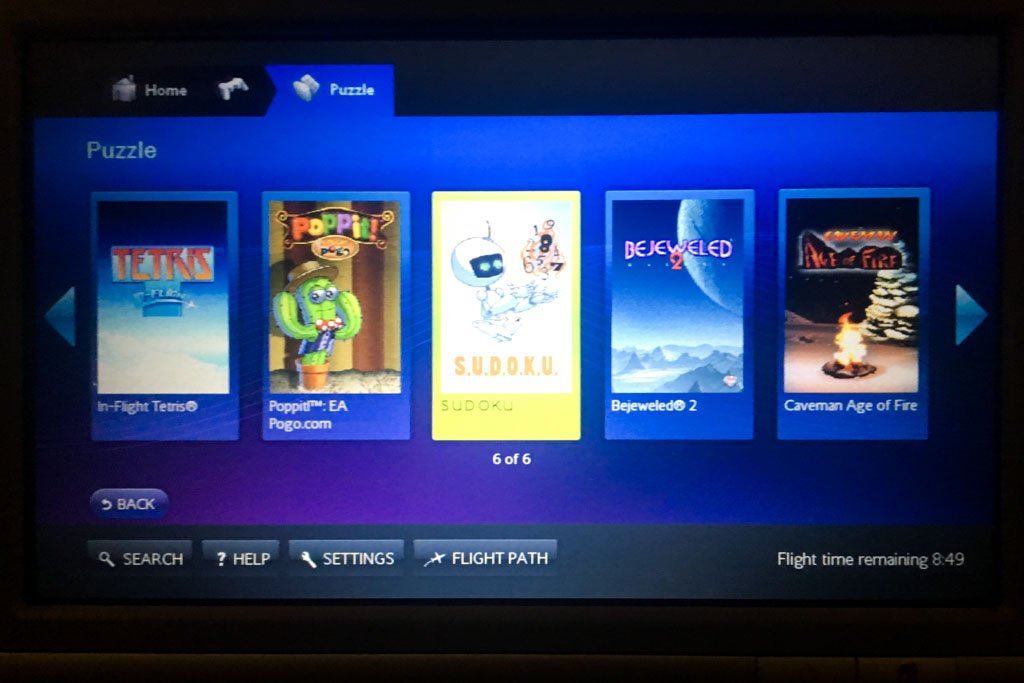 British Airways IFE Games