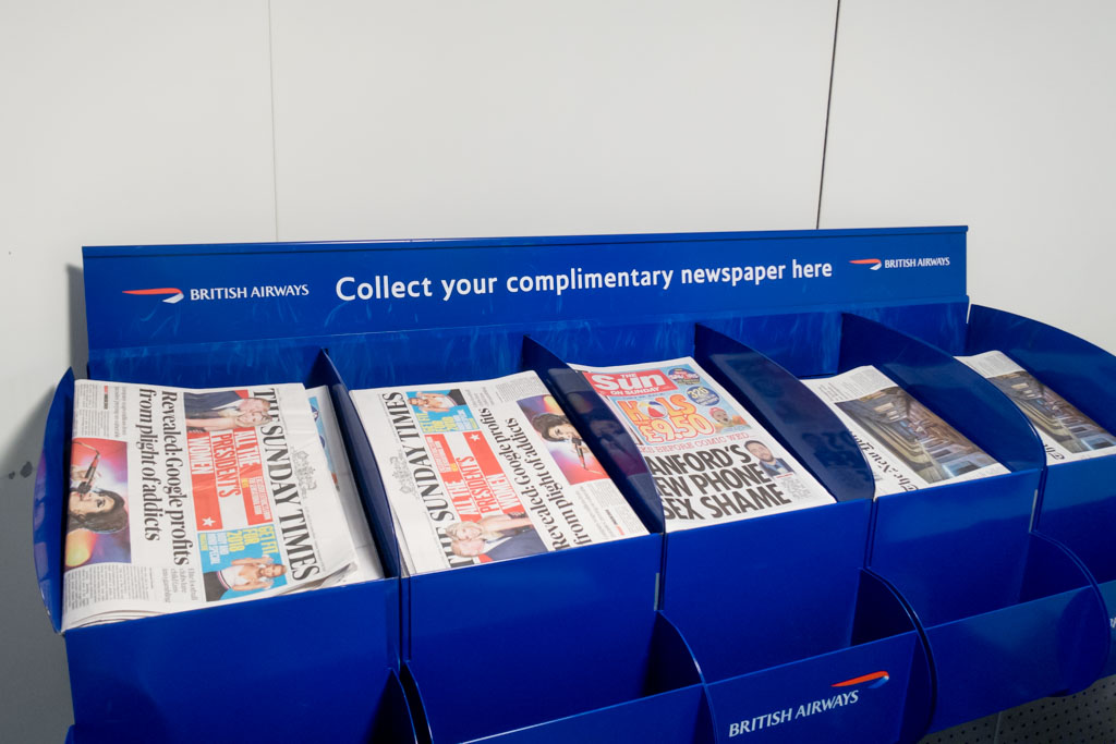 British Airways Free Newspapers
