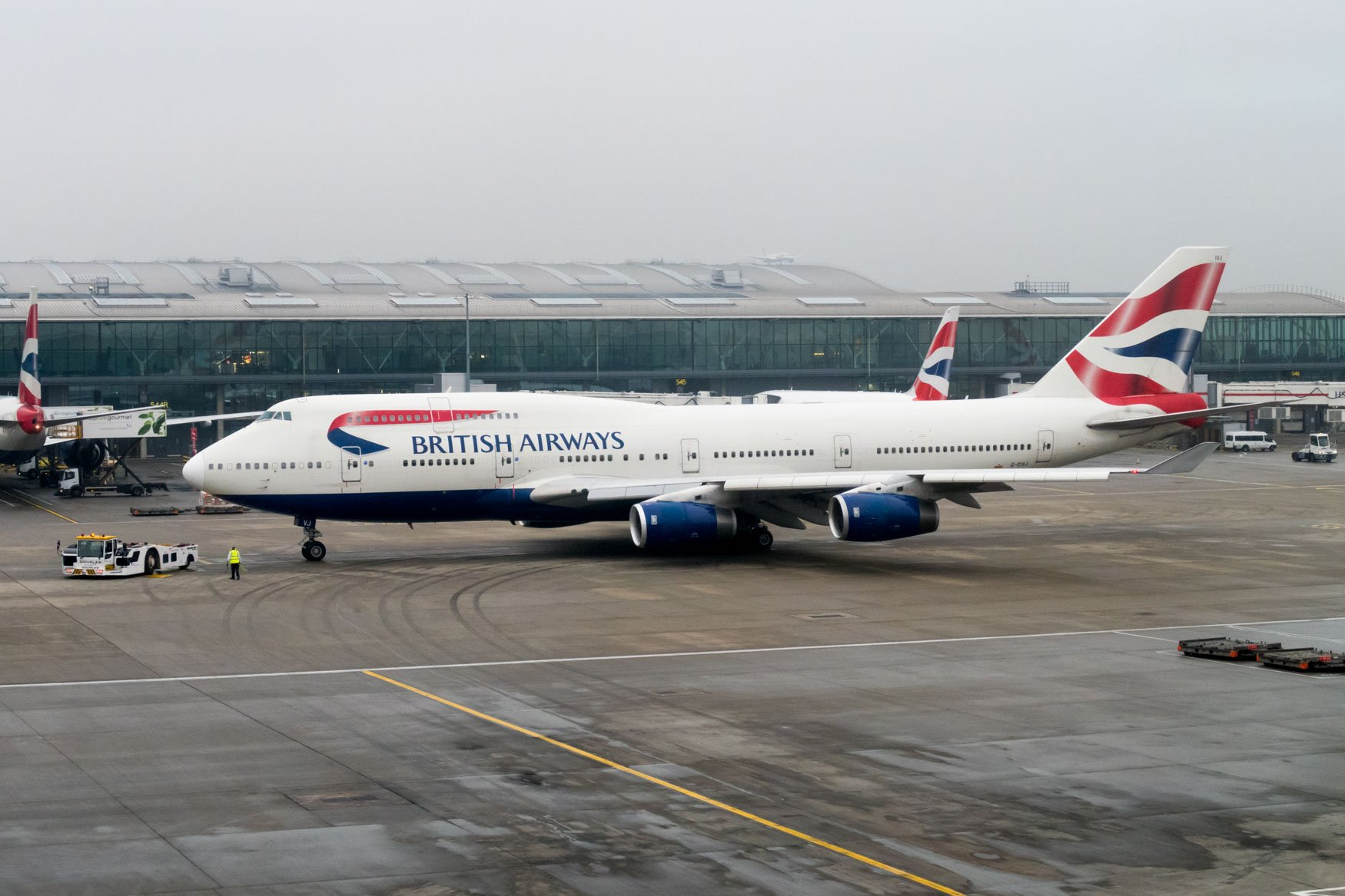 British Airways 747-400 at Heathrow