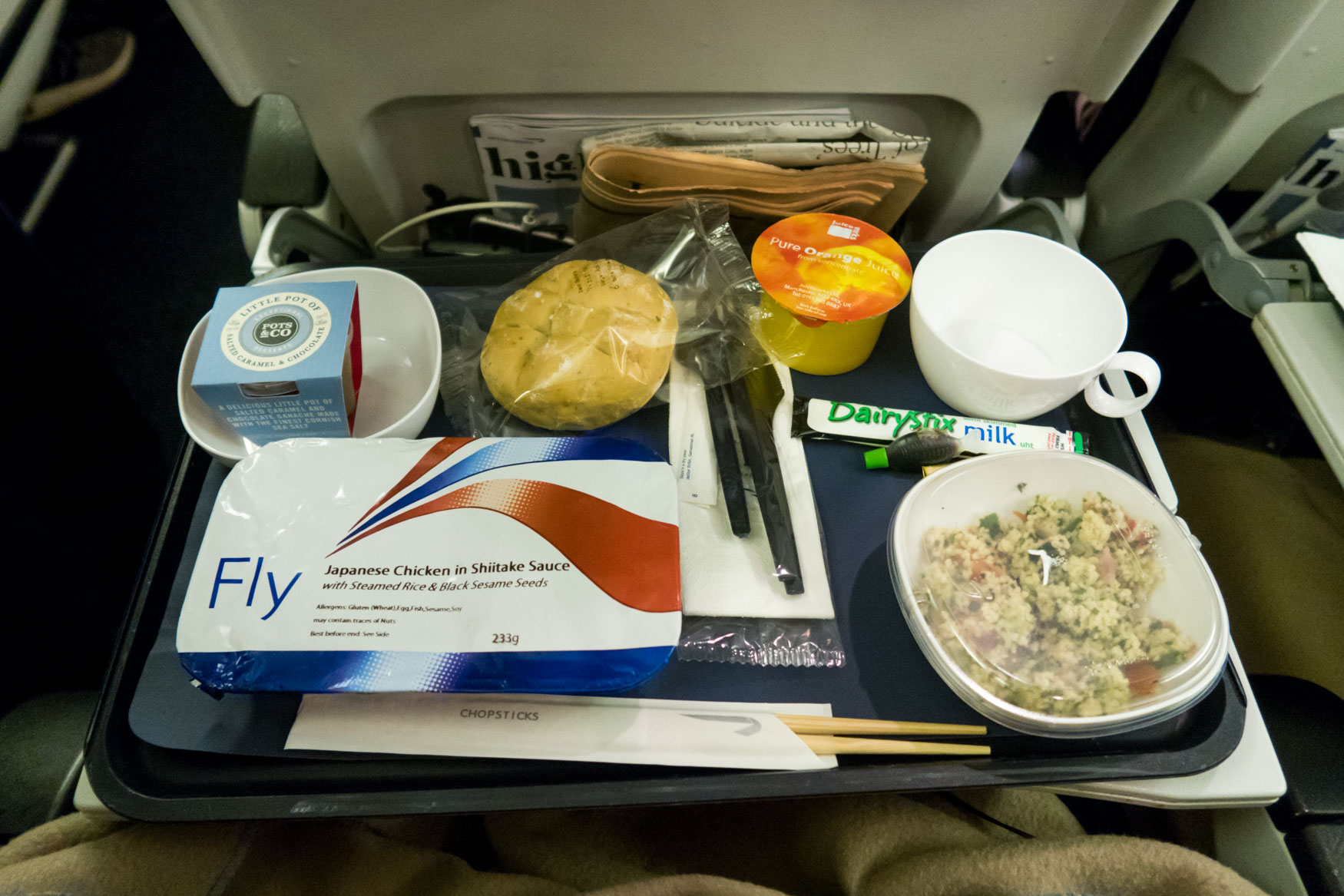 British Airways Longhaul Economy Class Meal