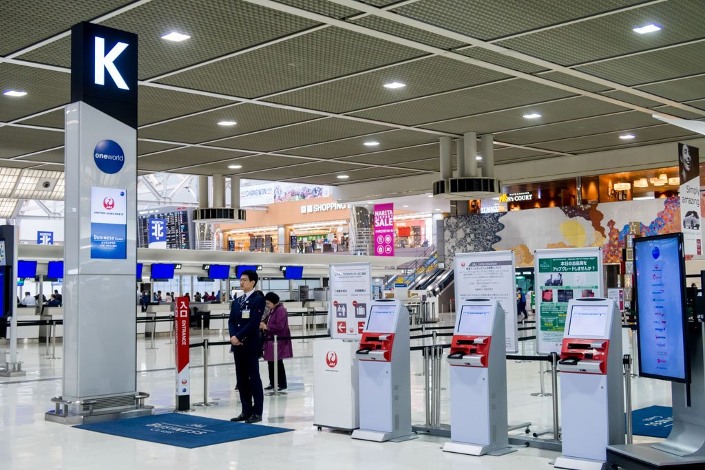 Japan Airlines Check-in Counters at Narita
