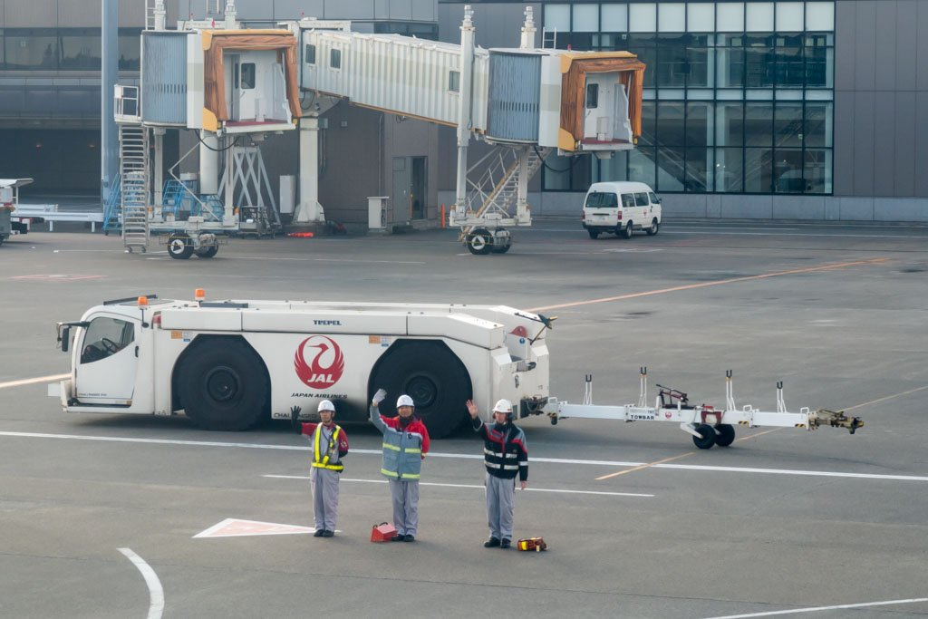 Japan Airlines Ground Staff Send-Off