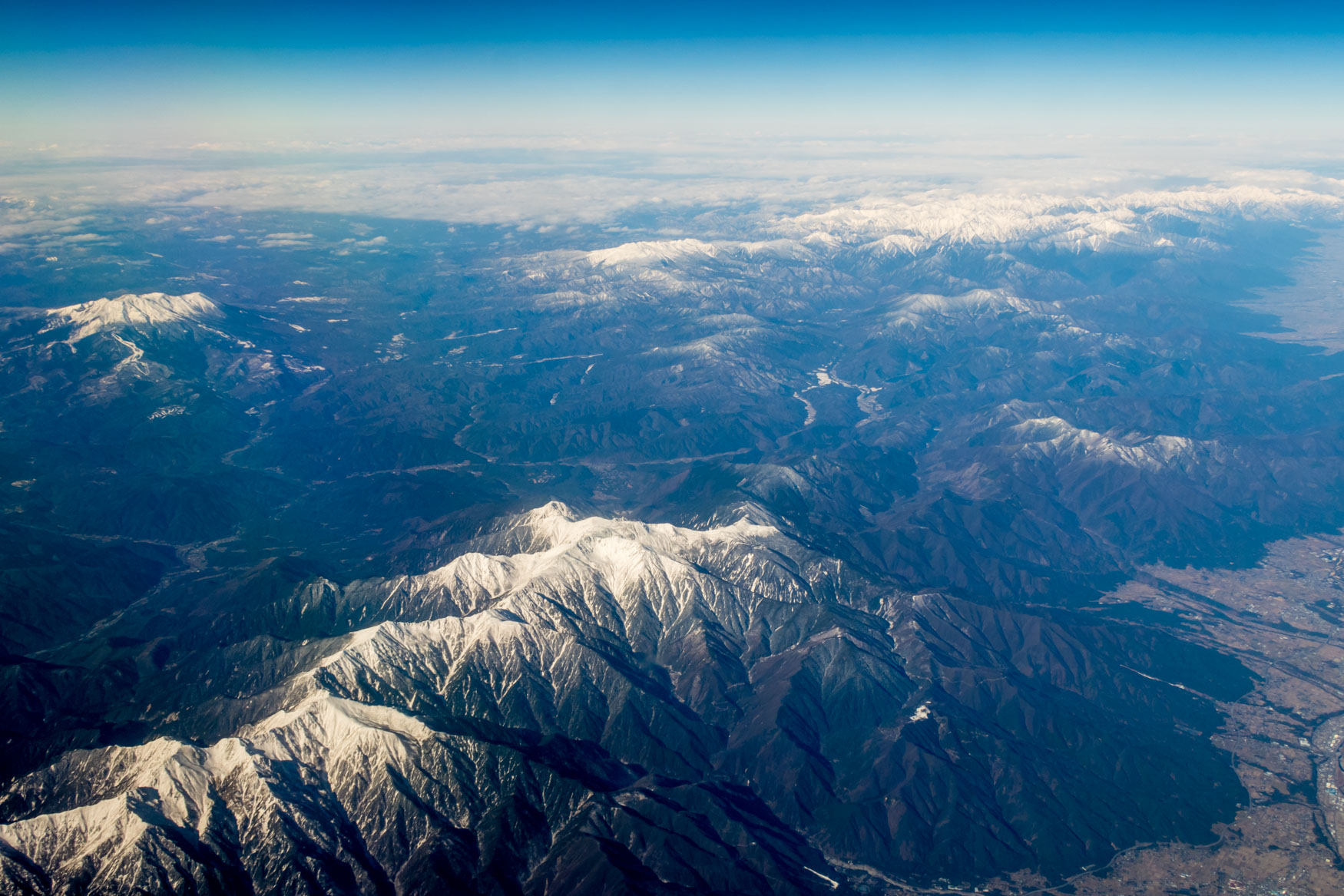 Flying Over the Japanese Alps