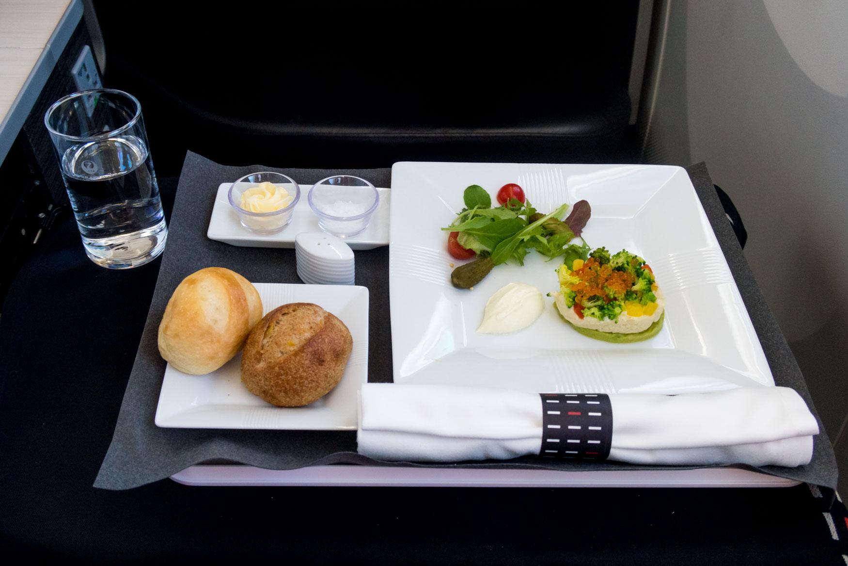 JAL Business Class Appetizer