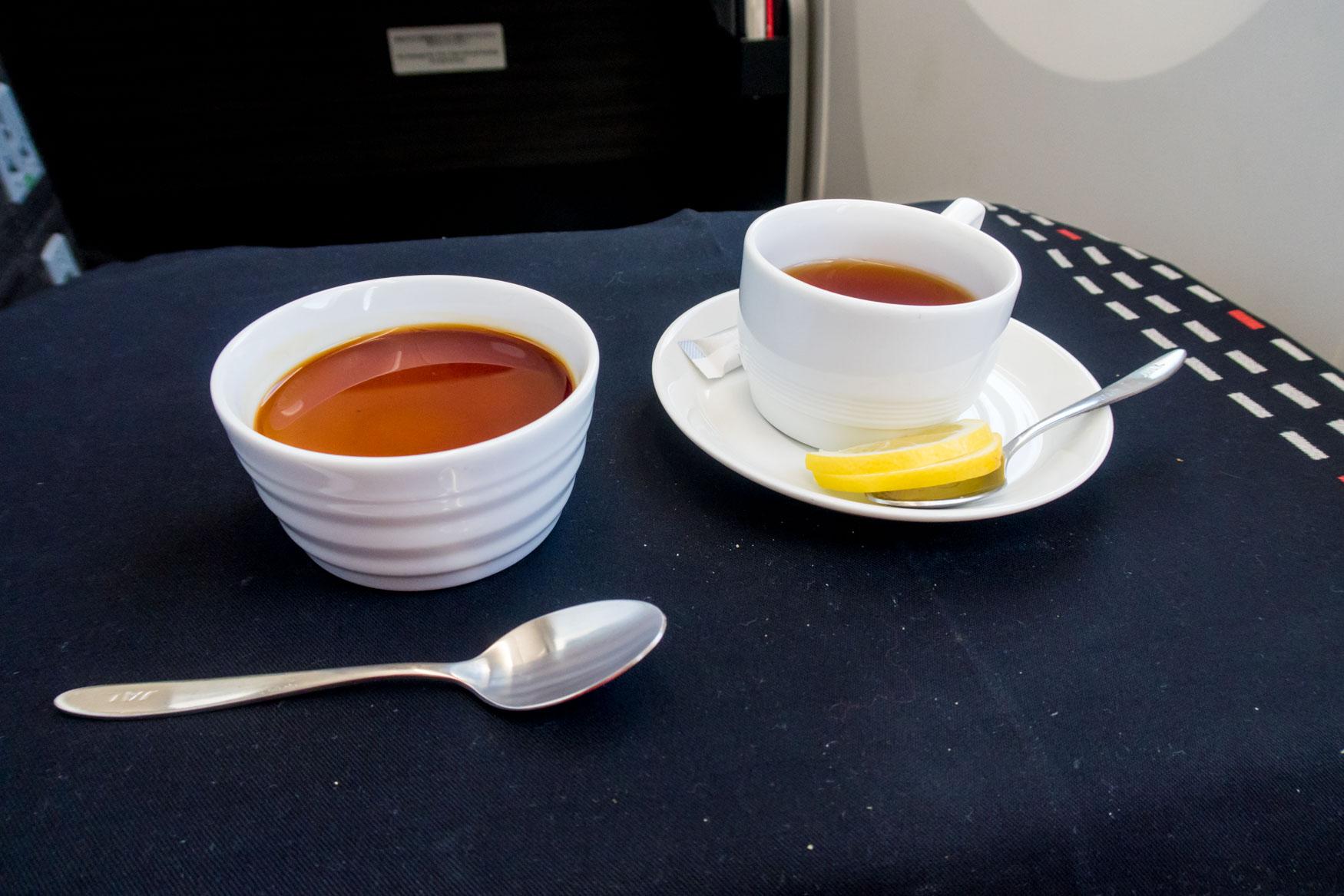JAL Business Class Dessert