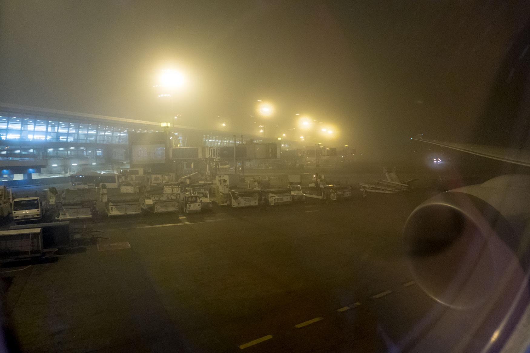 Foggy Delhi Airport