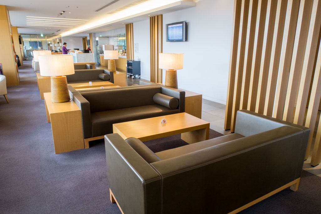 JAL Sakura Lounge Narita Seating