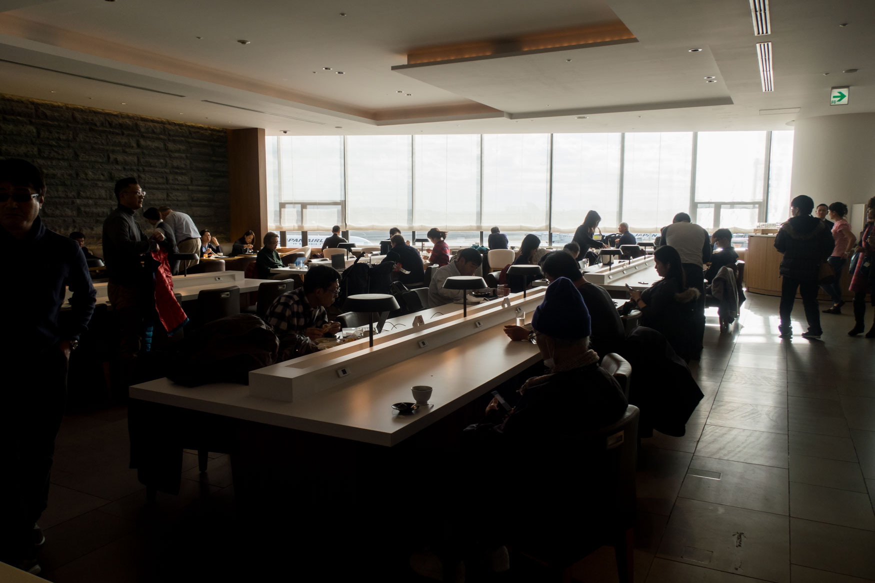 JAL Sakura Lounge Tokyo Narita Dining Area