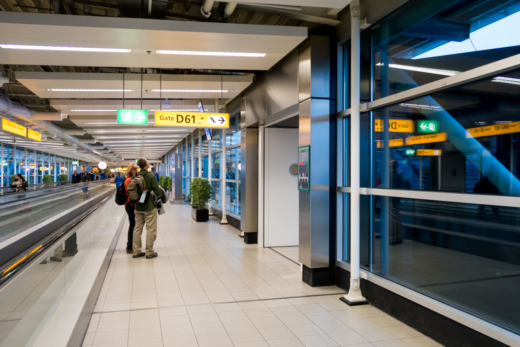 Gate D61 at Schiphol Airport