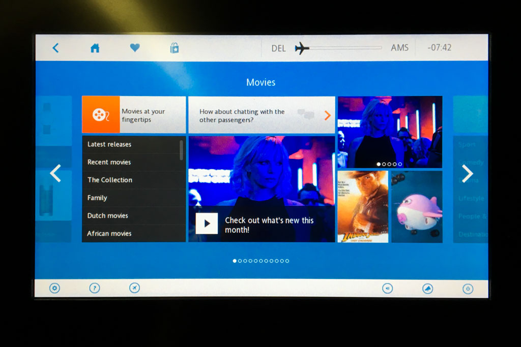 KLM In-Flight Entertainment Movies