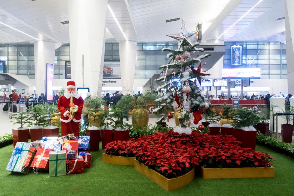 Delhi Airport Christmas Decoration