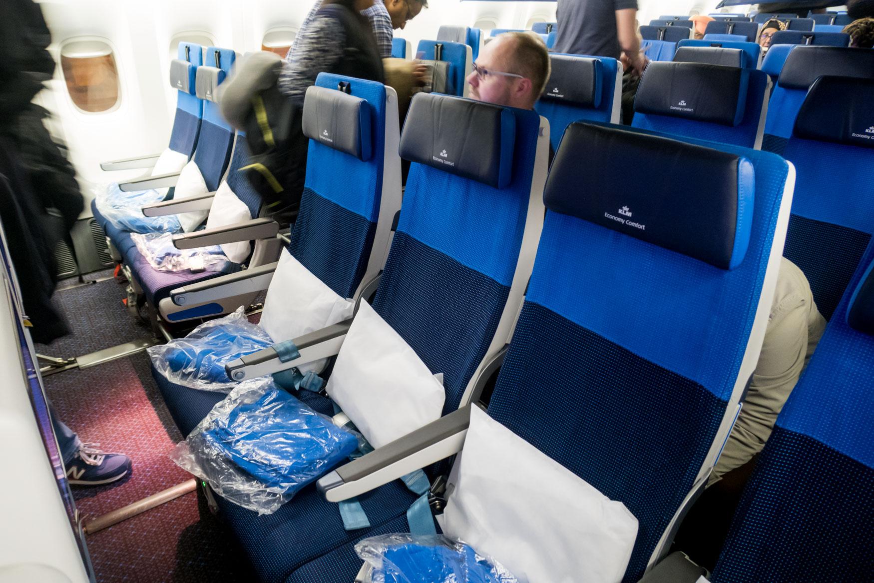 KLM Economy Comfort Seats