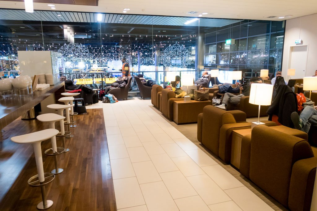 KLM Crown Lounge Schengen Amsterdam Seating