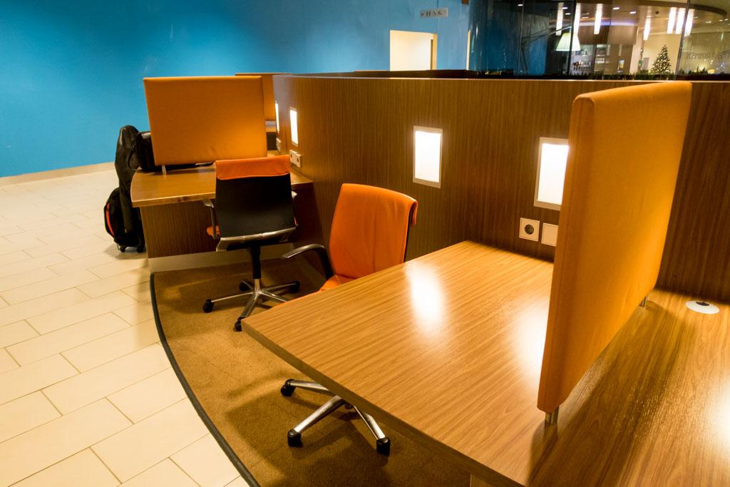 KLM Crown Lounge Schengen Amsterdam Workspace