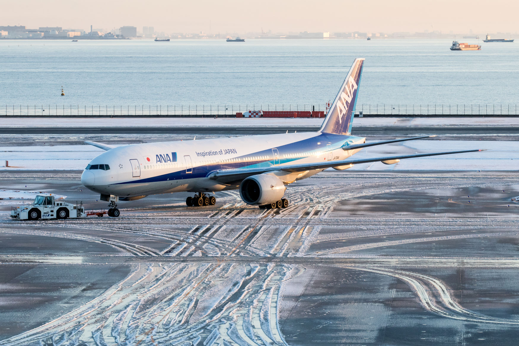 ANA 777-200 Being Towed