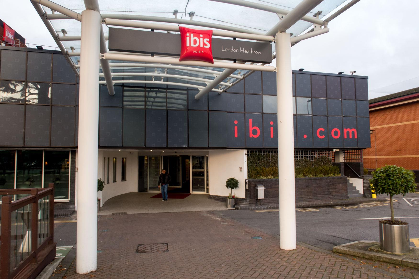 Entrance into the Heathrow Ibis Hotel