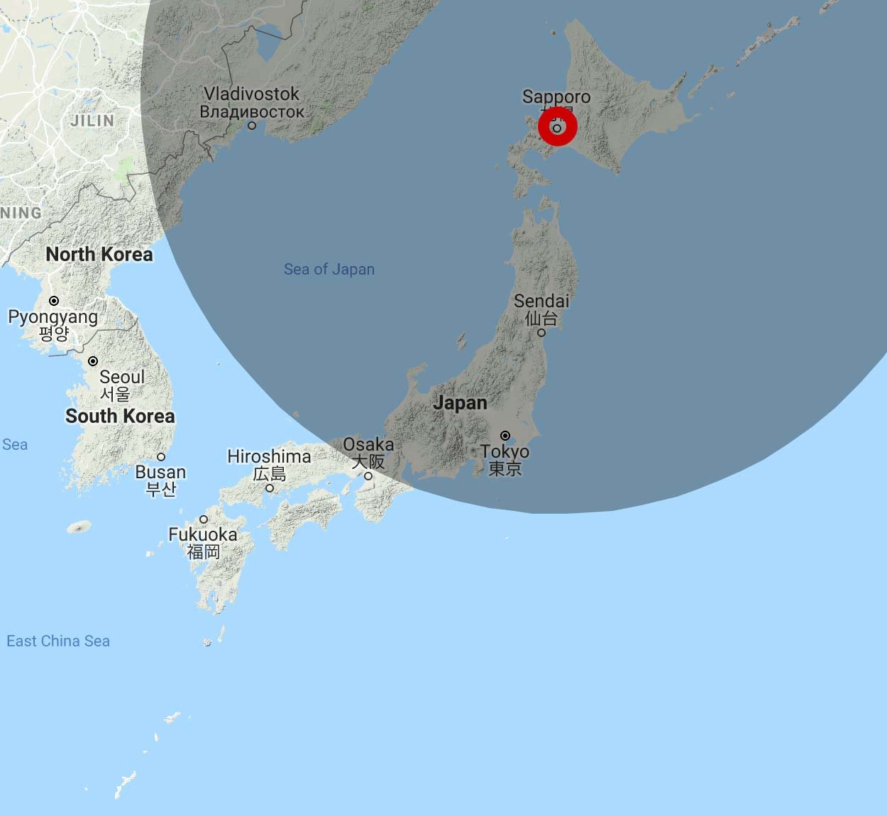 JAL 4,500 Avios Range from Sapporo
