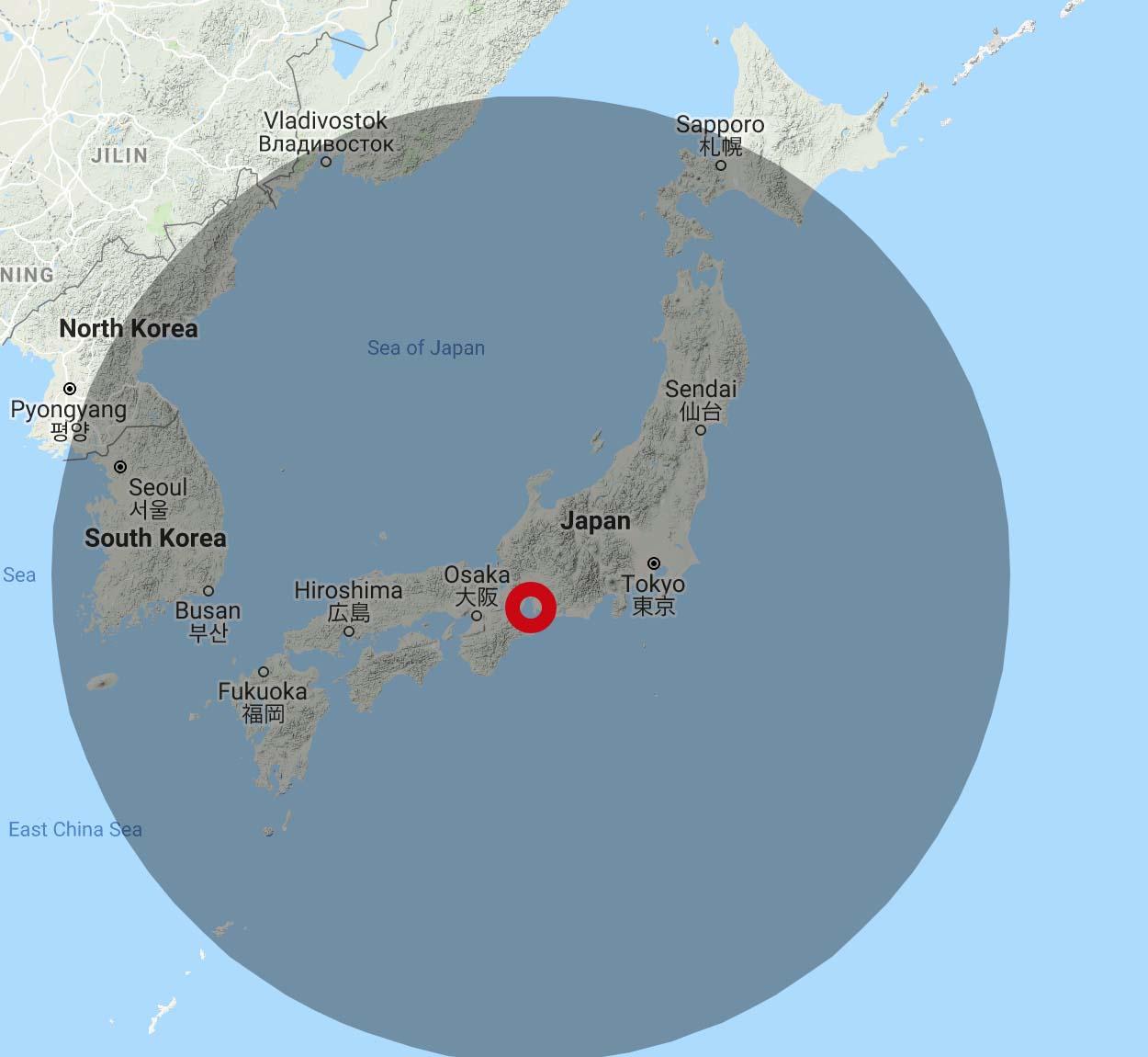 JAL 4,500 Avios Range from Nagoya