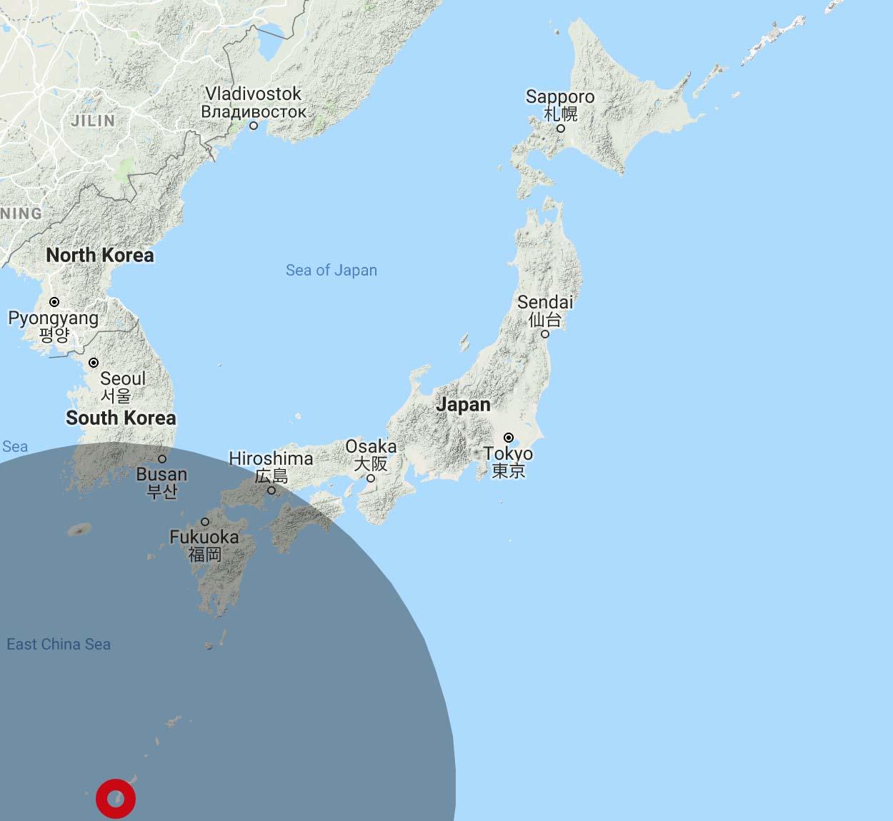 JAL 4,500 Avios Range from Naha Okinawa