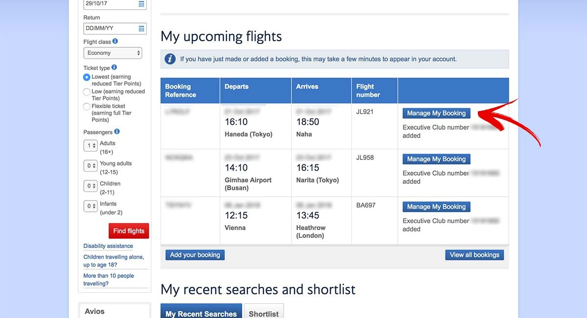 Cancelling JAL Awards Booked with Avios