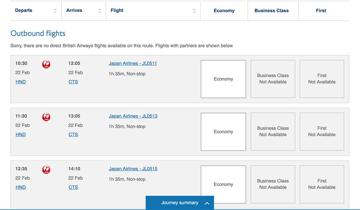 Using Avios to Book Last Minute JAL Domestic Award Tickets