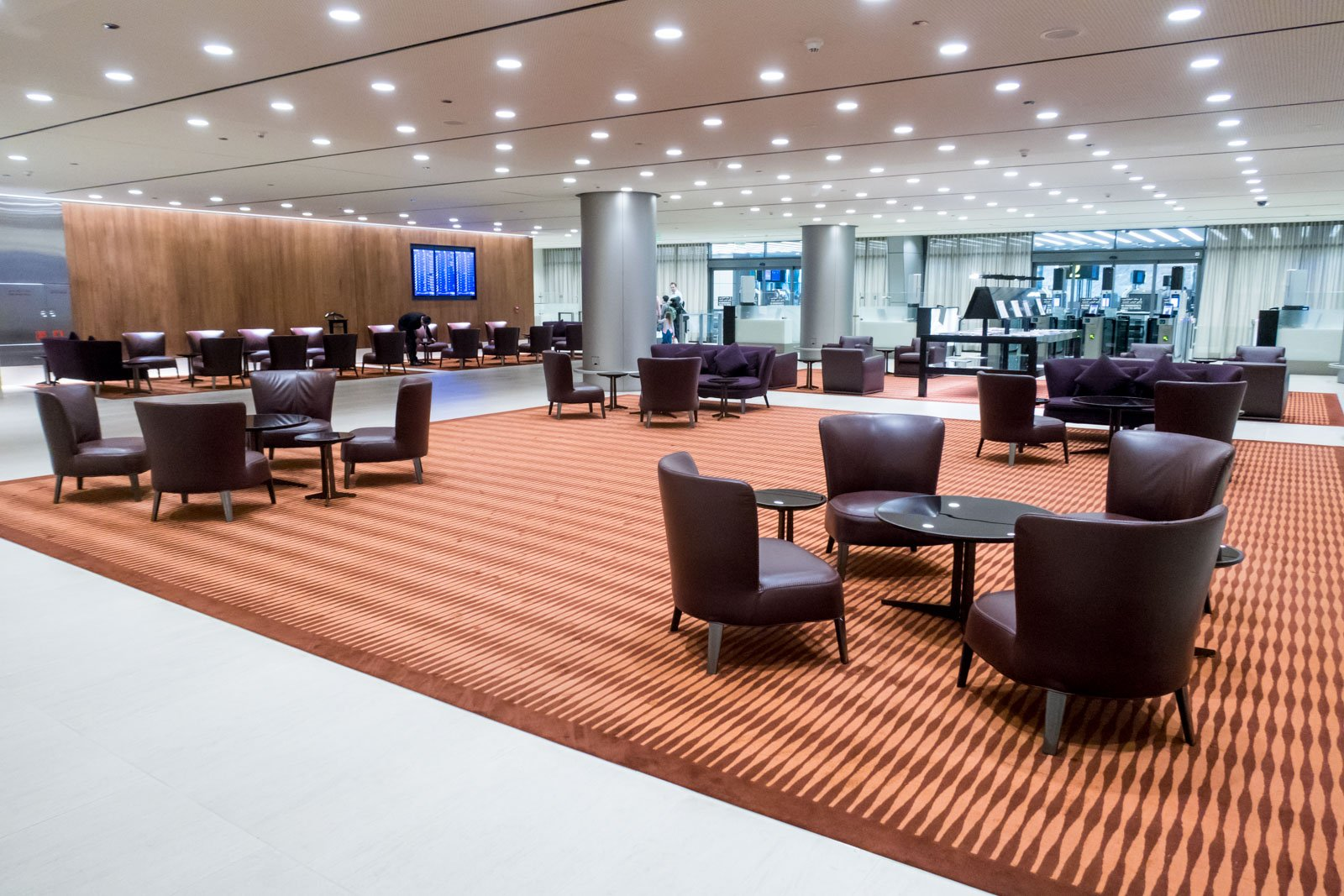 Seating Area in Business Class Immigration Area in Doha