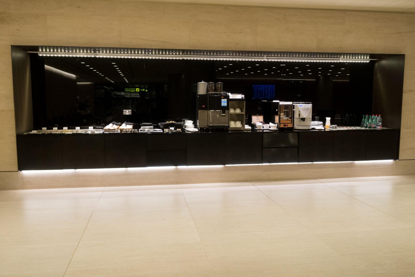 Buffet Spread in Premium Immigration Facility in Qatar