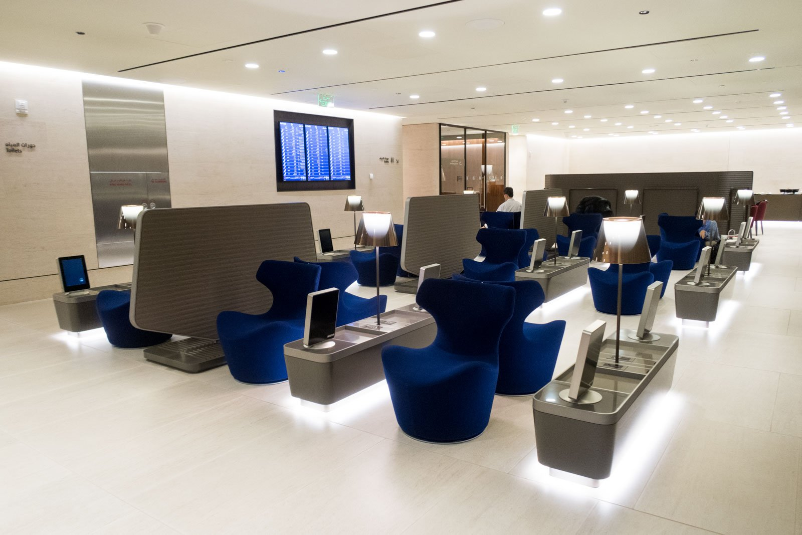Seating in Arrivals Lounge in Doha