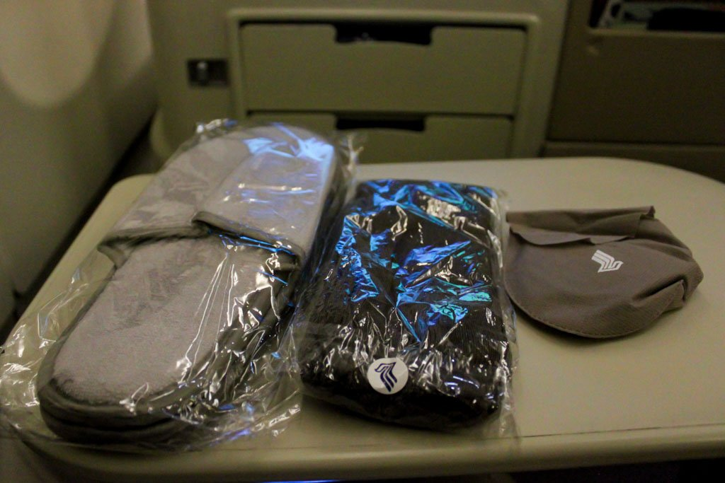 Singapore Airlines Business Class Amenities