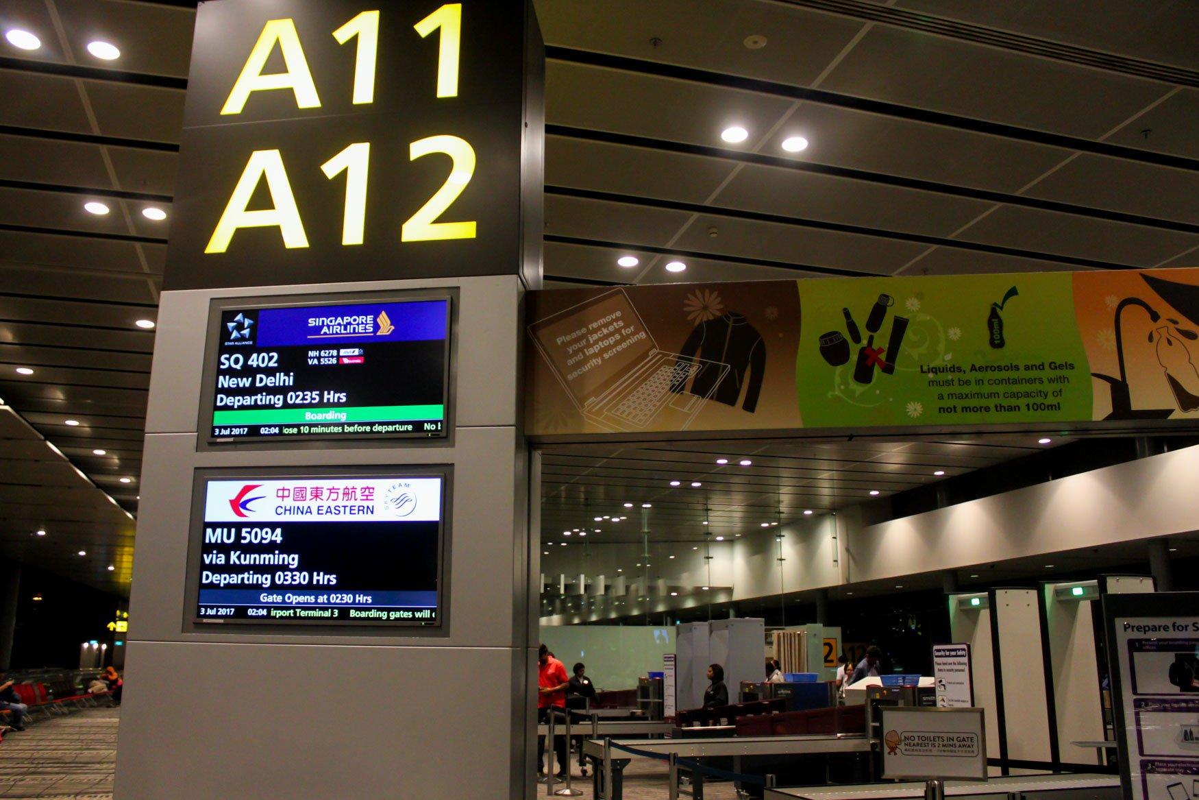 Singapore Airport Gate A11